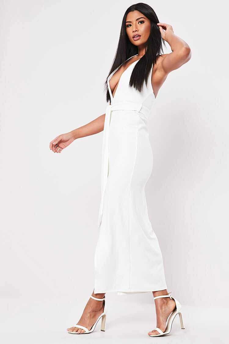 Missguided Plunging Halter Dress at Forever 21