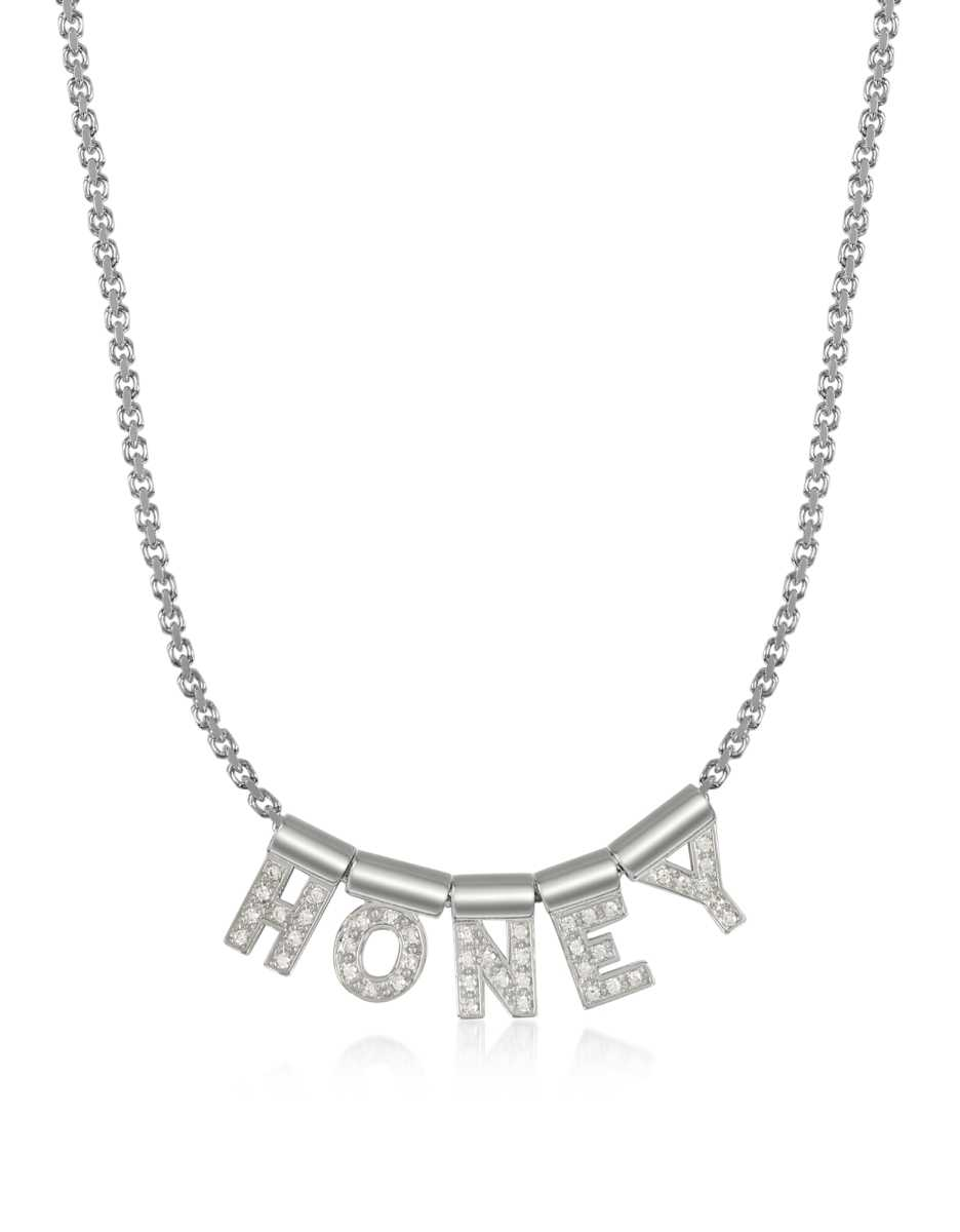Nomination  Necklaces Sterling Silver and Swarovski Zirconia Honey Necklace Silver USA - GOOFASH - Womens JEWELRY