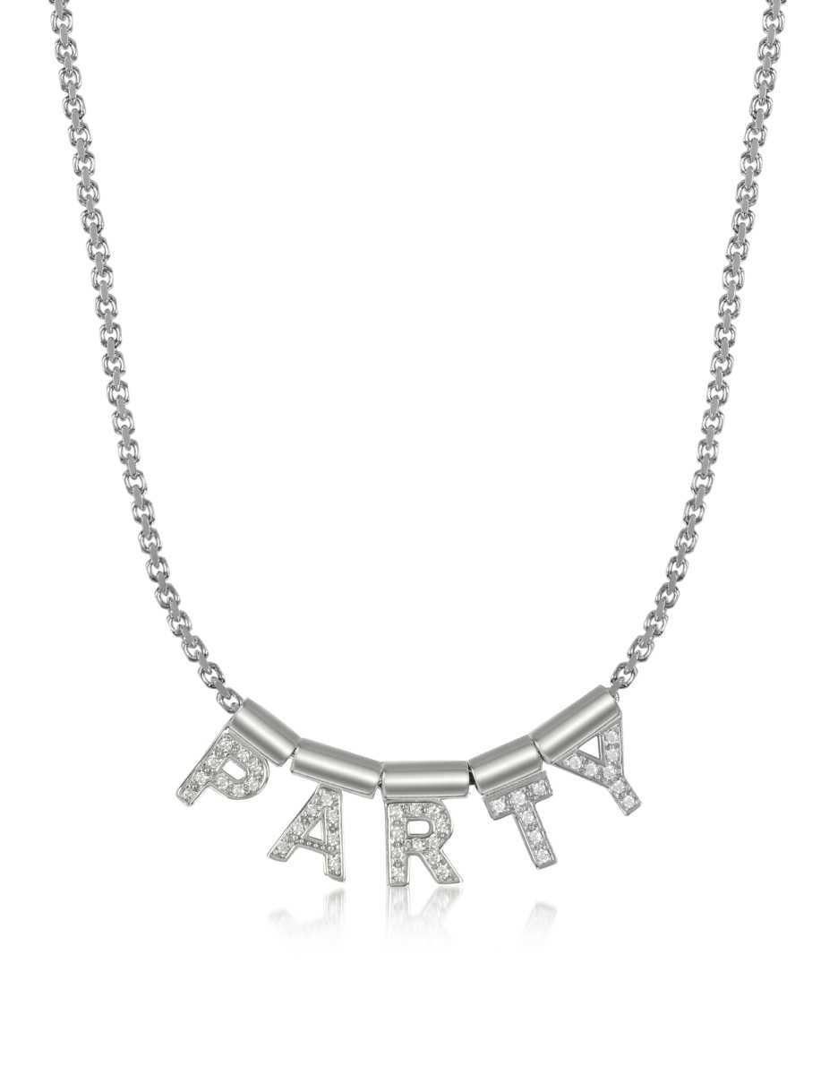 Nomination  Necklaces Sterling Silver and Swarovski Zirconia Party Necklace Silver USA - GOOFASH - Womens JEWELRY