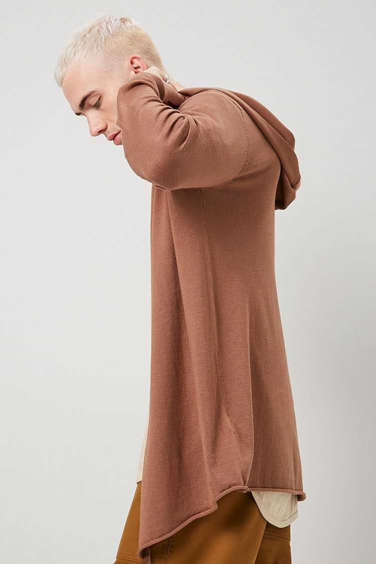 Open-Front Hooded Cardigan at Forever 21