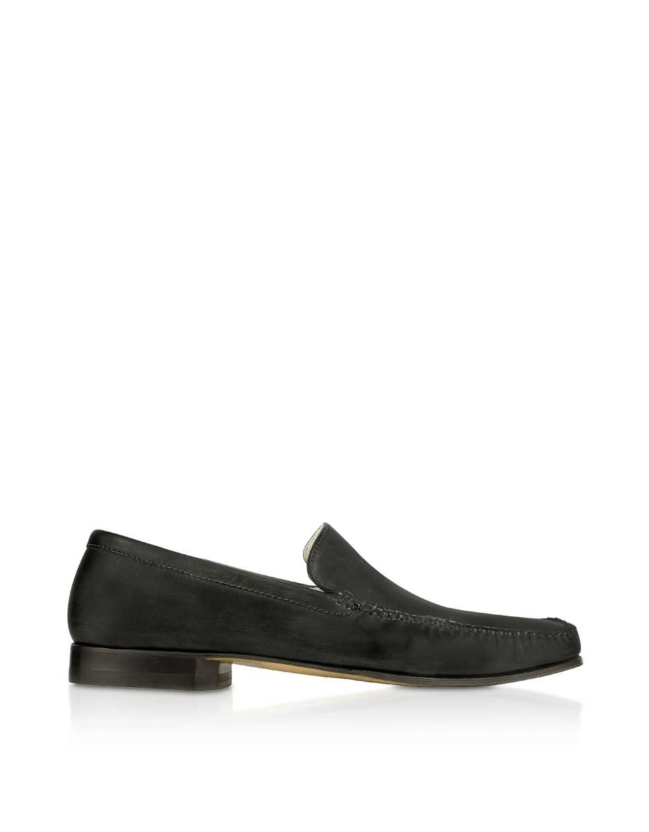 Pakerson  Shoes Black Italian Handmade Leather Loafer Shoes Black USA - GOOFASH - Mens LOAFERS
