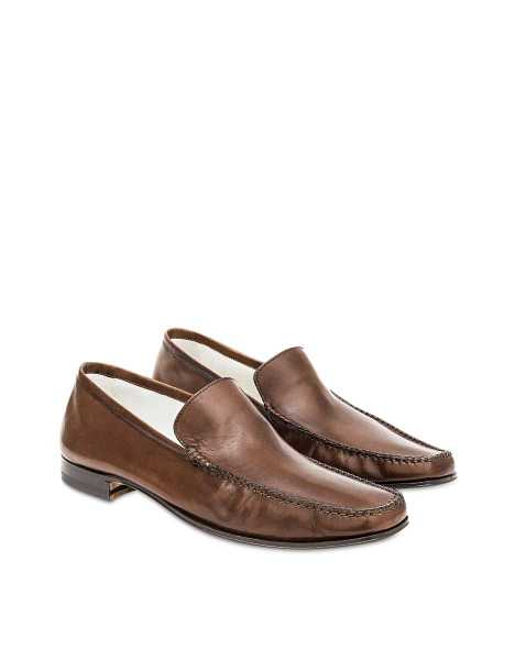 Pakerson Shoes Cocoa Italian Handmade Leather Loafer Shoes Brown USA - GOOFASH - Mens LOAFERS