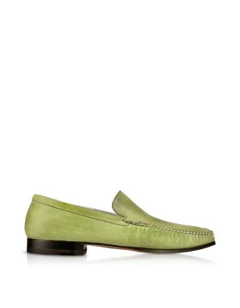 Pakerson  Shoes Pistachio Italian Handmade Leather Loafer Shoes Green USA - GOOFASH - Mens LOAFERS