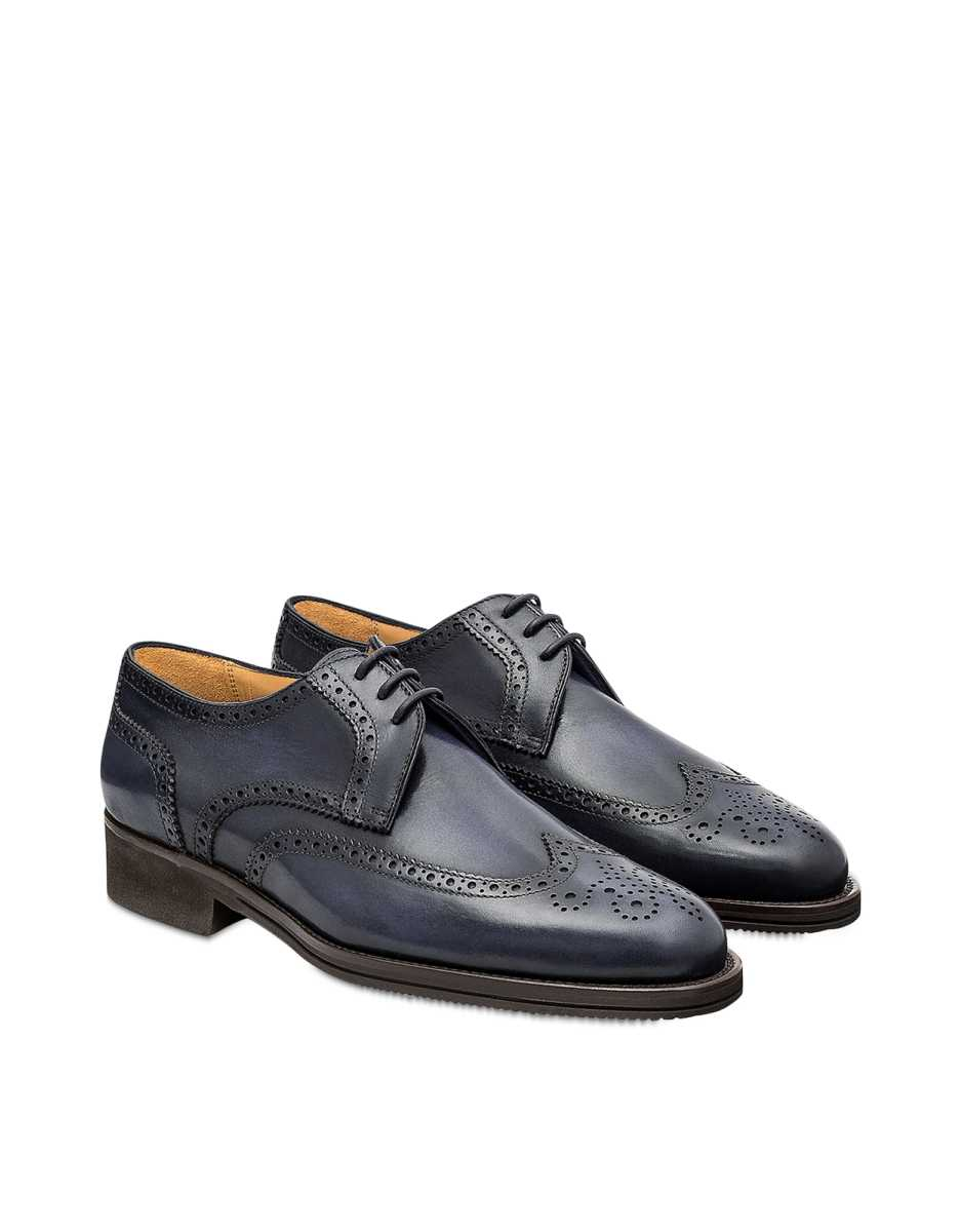 Pakerson  Shoes Stone Italian Handmade Calfskin Lace-Up Shoes Gray USA - GOOFASH - Mens FORMAL SHOES