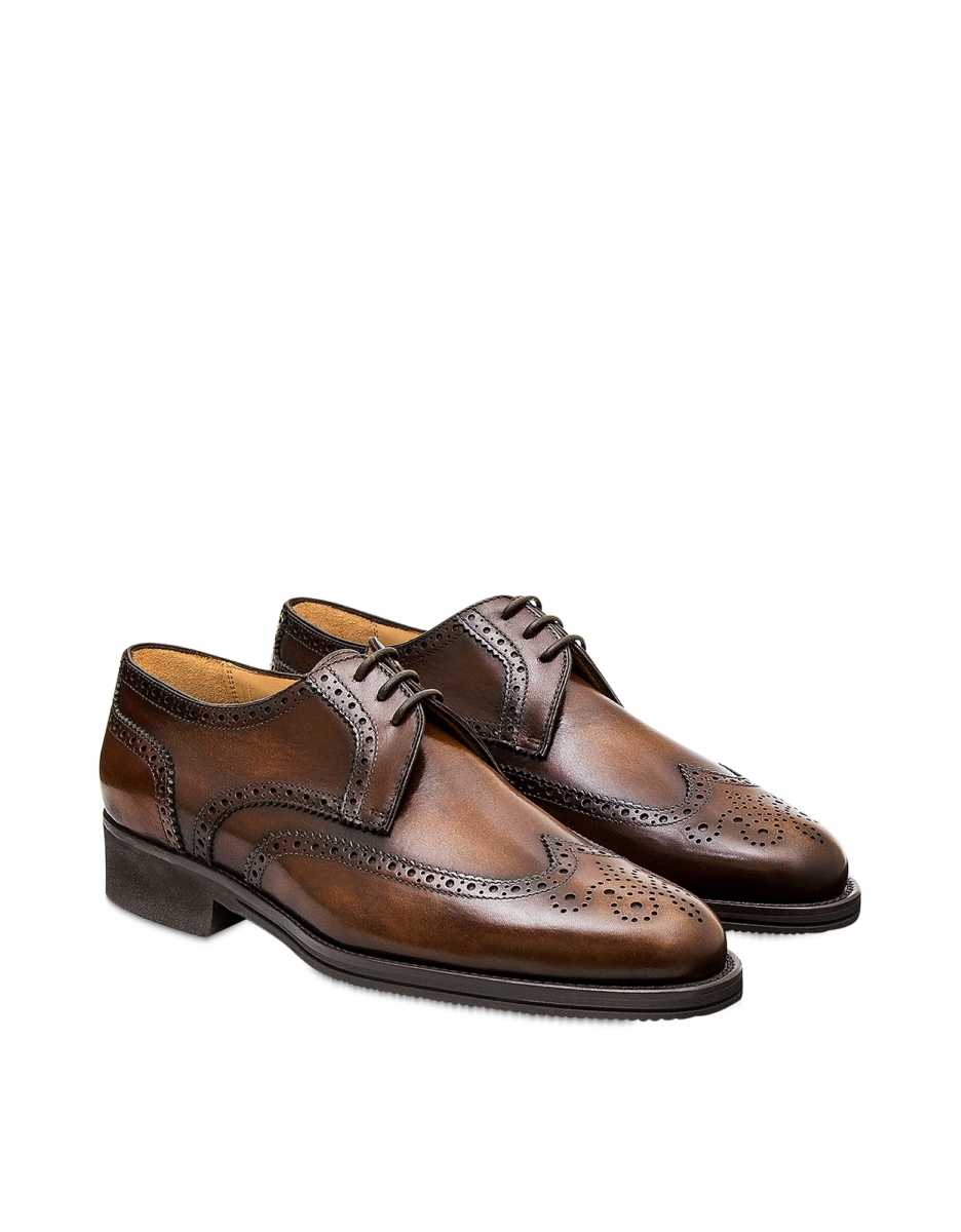 Pakerson  Shoes Timber Italian Handmade Calfskin Lace-Up Shoes Dark Brown USA - GOOFASH - Mens FORMAL SHOES