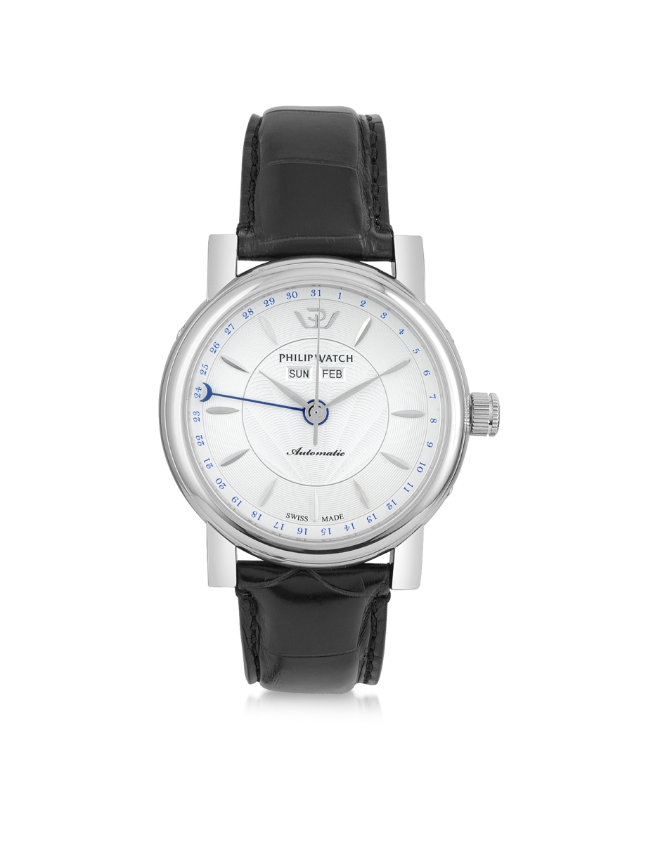 Philip Watch  Men's Watches Wales Heritage Mechanic Automatic Men's Watch White USA - GOOFASH - Mens WATCHES