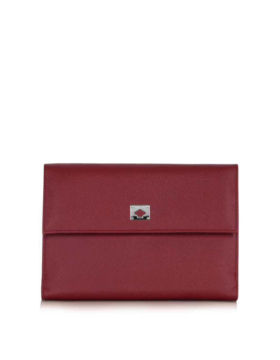 Pineider  Wallets City Chic Burgundy Leather French Purse Wallet Burgundy USA - GOOFASH - Womens WALLETS