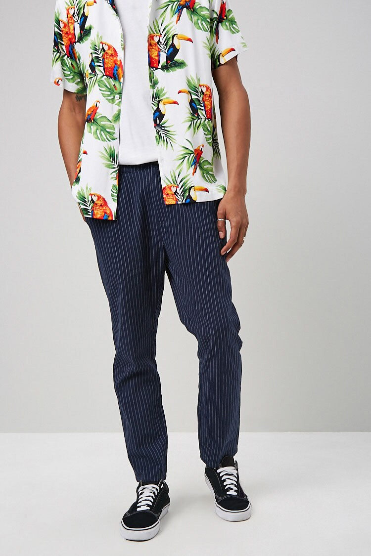 Pinstriped Print Pants at Forever 21