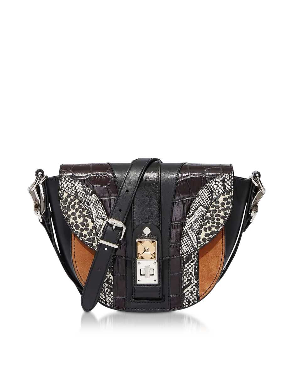 Proenza Schouler  Handbags Ps11 Small Saddle Bag W/ Patchwork Exotic Mix Red USA - GOOFASH - Womens BAGS
