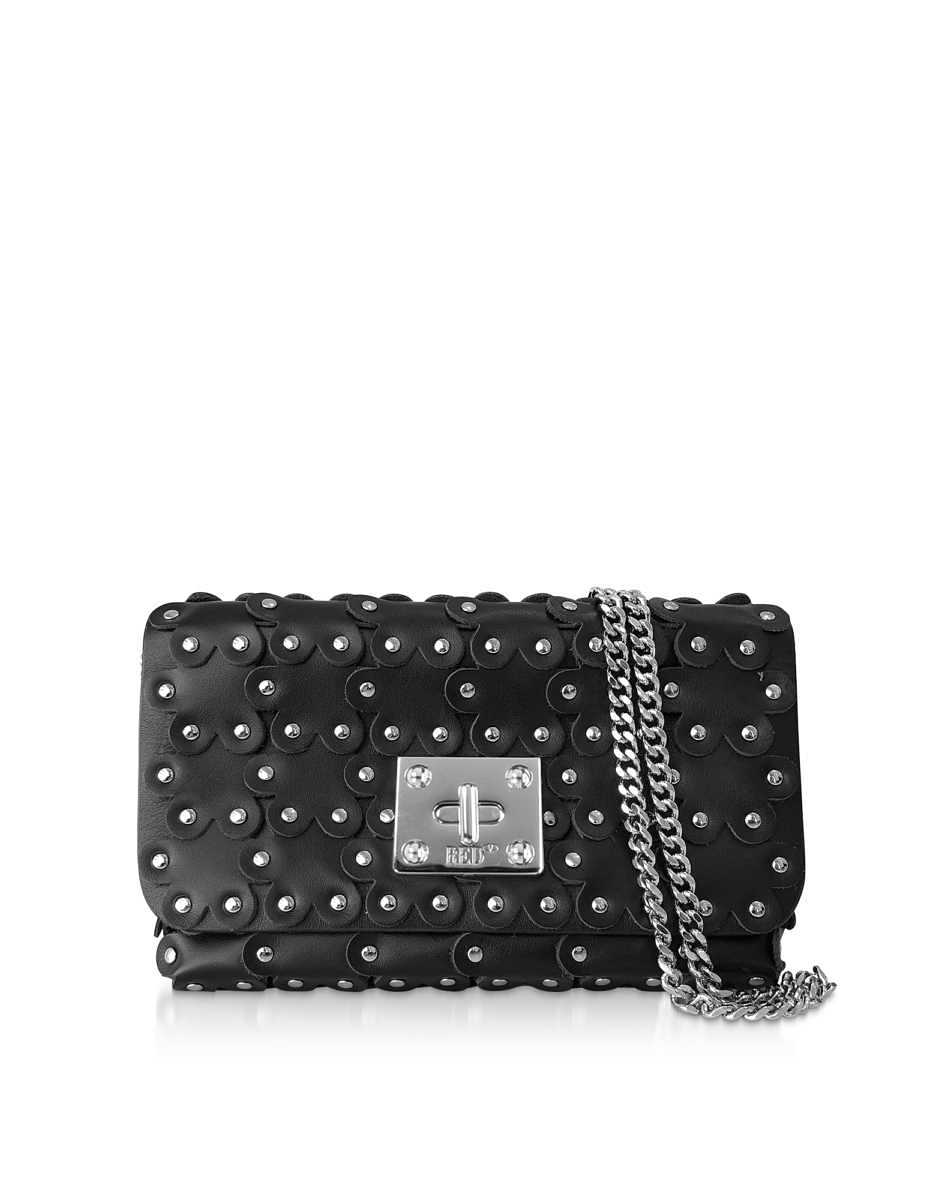 RED Valentino  Handbags Flower Puzzle Leather Clutch Black USA - GOOFASH - Womens BAGS