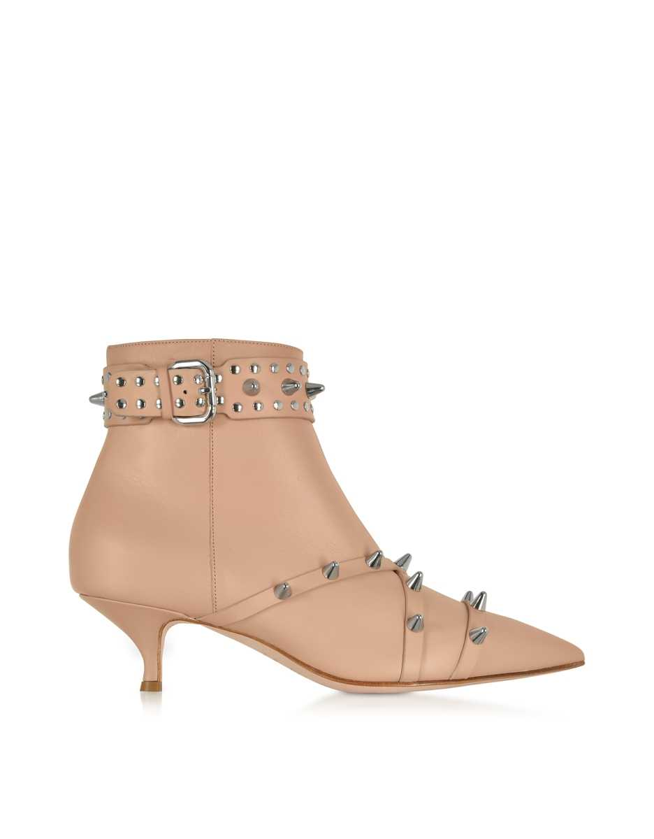 RED Valentino  Shoes Nude Leather Mid-Heel Ankle Boots Nude USA - GOOFASH - Womens ANKLE BOOTS
