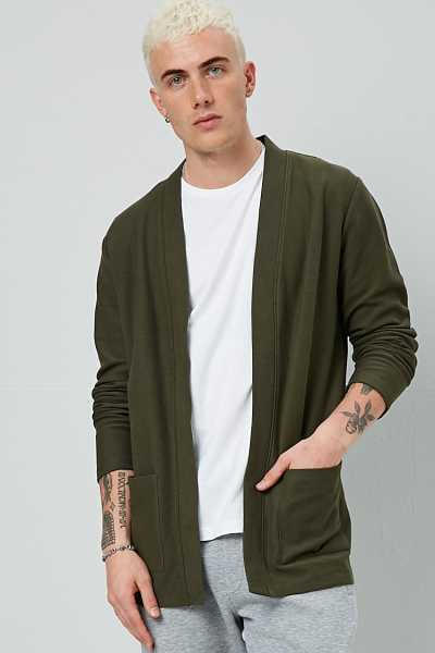Ribbed Open-Front Cardigan at Forever 21