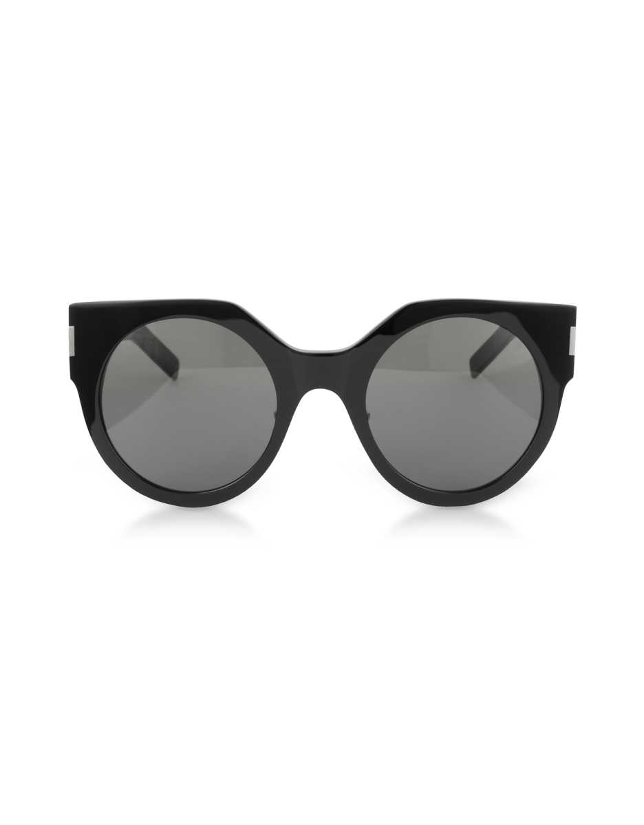 Saint Laurent  Sunglasses SL 185 Slim Shiny Black Acetate Women's Sunglasses Black