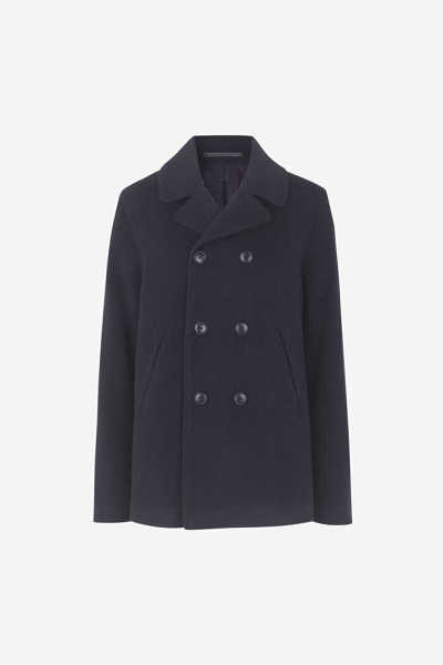 Samsoe & Samsoe NL - Brandi Coat - Night Sky - GOOFASH - Mens COATS