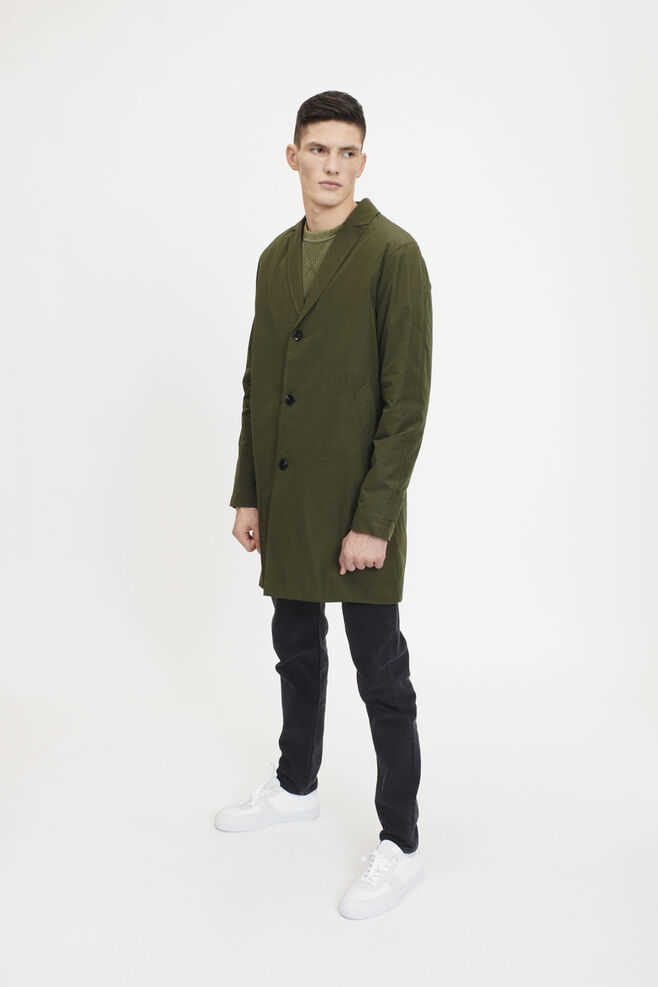 Samsoe & Samsoe NL - Graasten Coat - Deep Depths - GOOFASH - Mens COATS