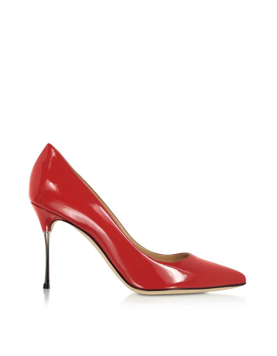 Sergio Rossi  Shoes Carminio Red Soft Patent Leather Pumps Red USA - GOOFASH - Womens PUMPS