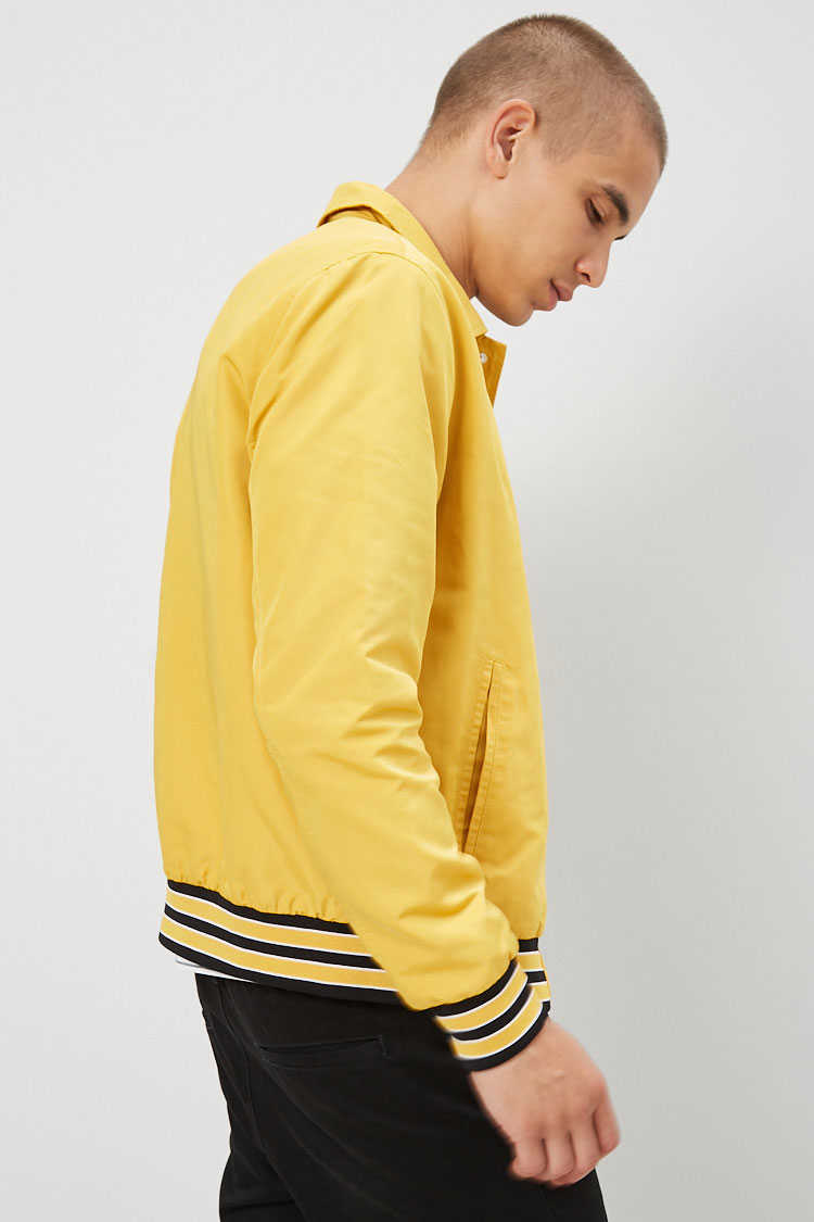 Snap-Button Varsity Jacket at Forever 21