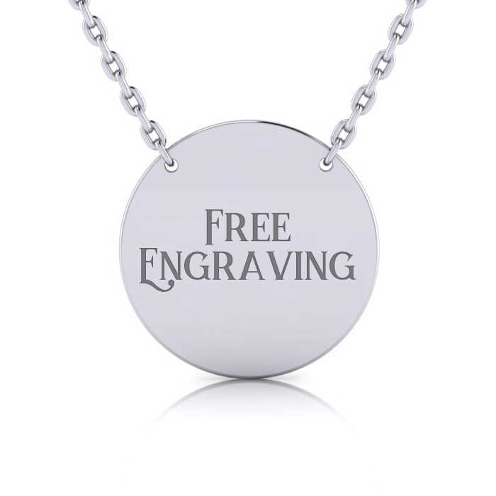 Sterling Silver Disc Necklace w/ Free Custom Engraving