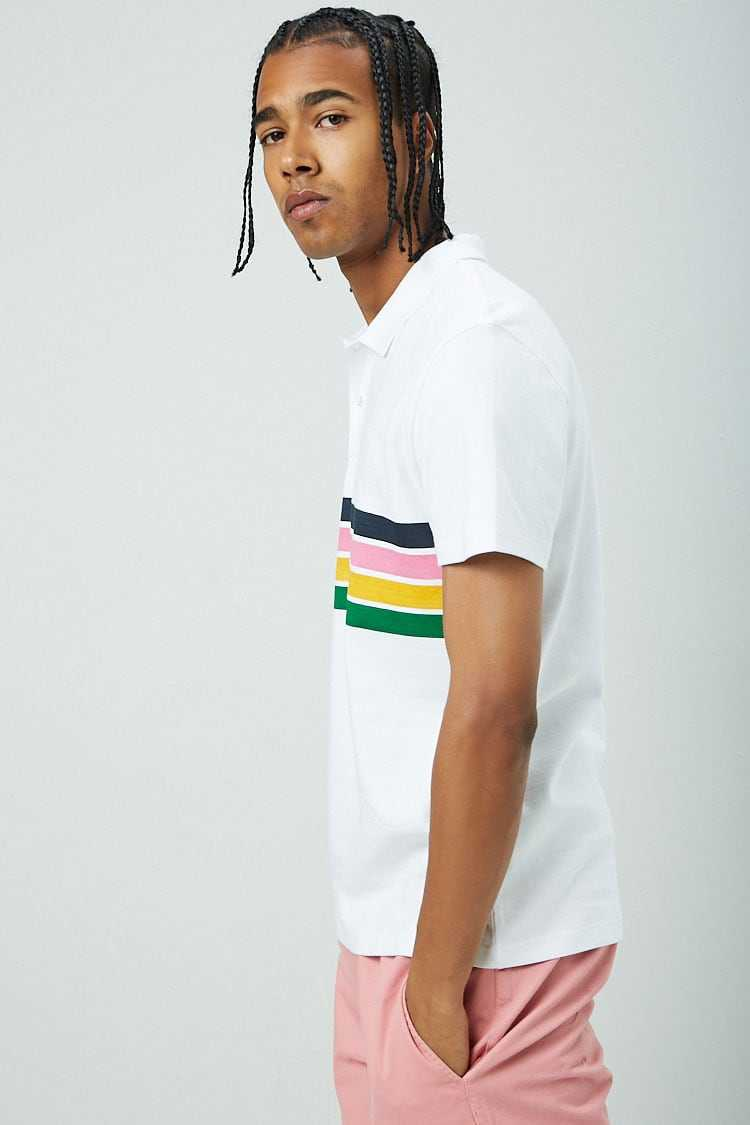 Striped Print Polo at Forever 21