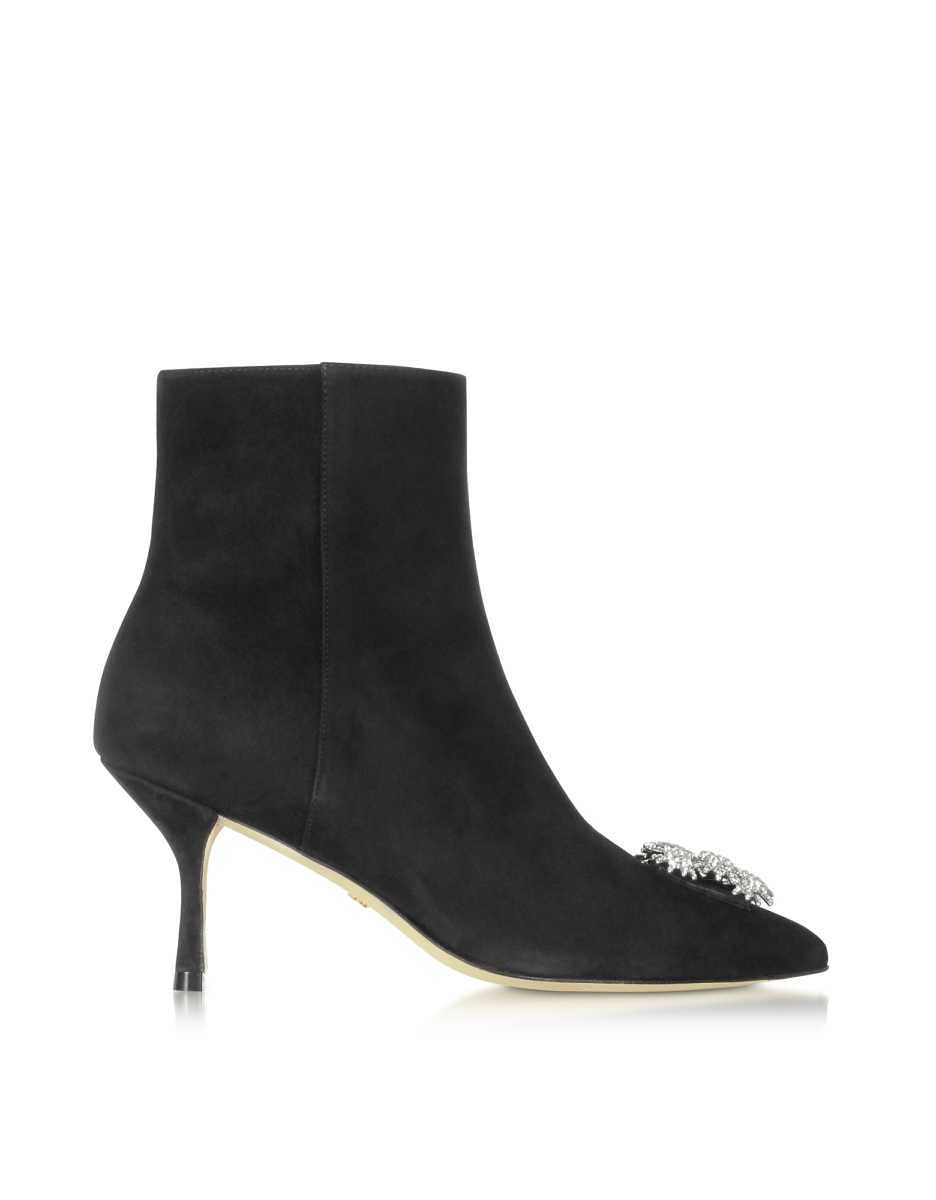 Stuart Weitzman  Shoes Black Suede Kera Boots Black USA - GOOFASH - Womens BOOTS