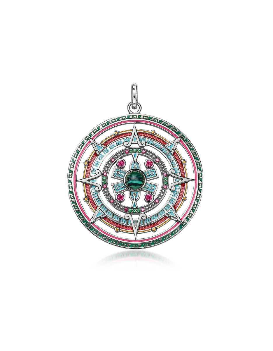 Thomas Sabo  Necklaces Sterling Silver Enamel and Glass-ceramic Stones Amulet Pendant Silver USA - GOOFASH - Womens HOUSE SHOES