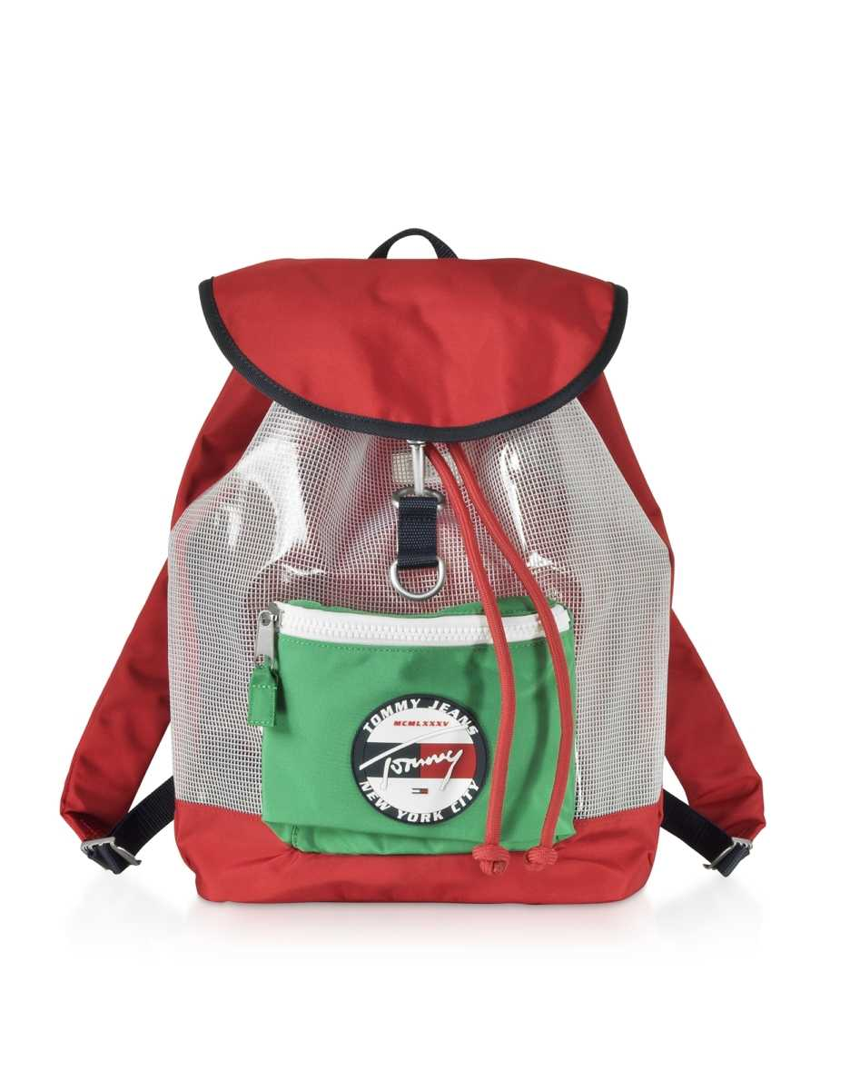 Tommy Hilfiger  Men's Bags The Heritage Red Nylon Backpack Red USA - GOOFASH - Mens BAGS
