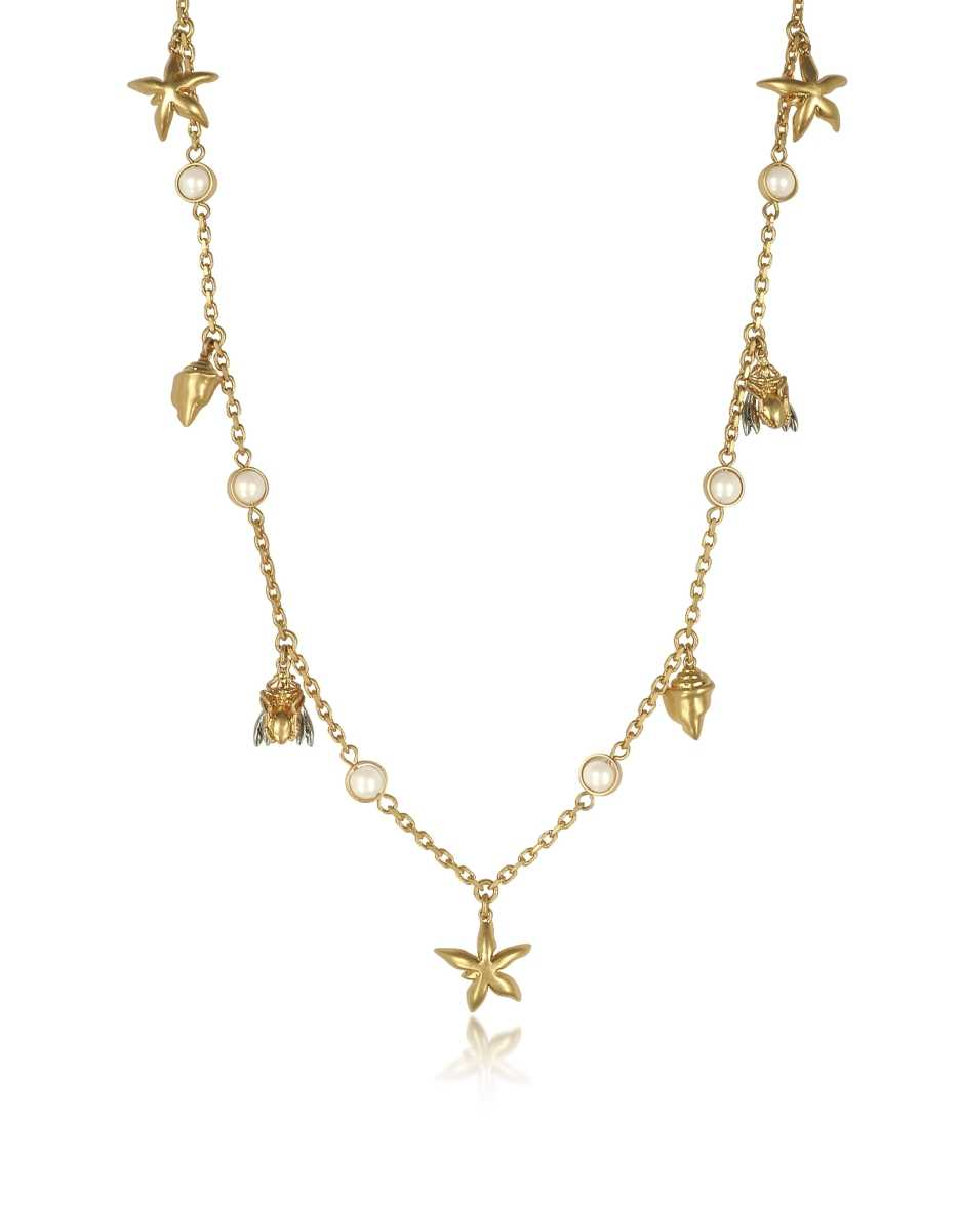 Tory Burch  Necklaces Poetry Of Things Rosary Gold USA - GOOFASH - Womens JEWELRY
