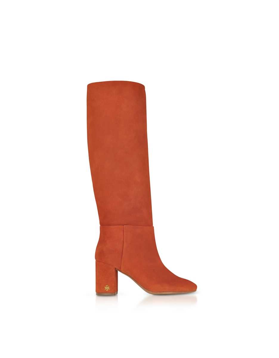 Tory Burch  Shoes Brooke Desert Suede Spice Slouchy Boots Brown USA - GOOFASH - Womens BOOTS