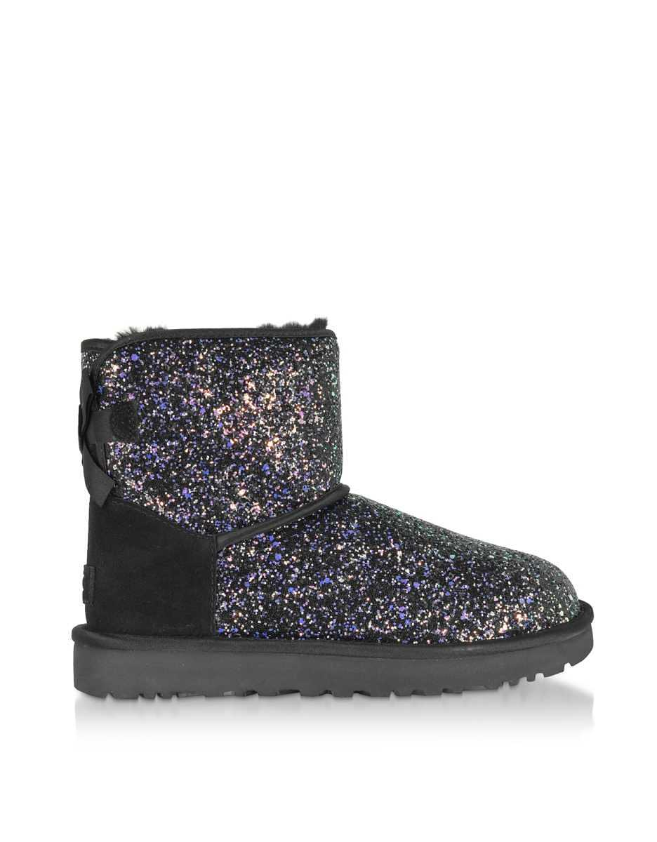 UGG  Shoes Cosmos Black Classic Mini Bow Boots Black USA - GOOFASH - Womens BOOTS