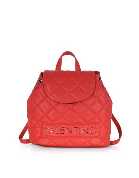 Valentino by Mario Valentino Handbags Licia Quilted Backpack Red USA - GOOFASH - Womens BAGS