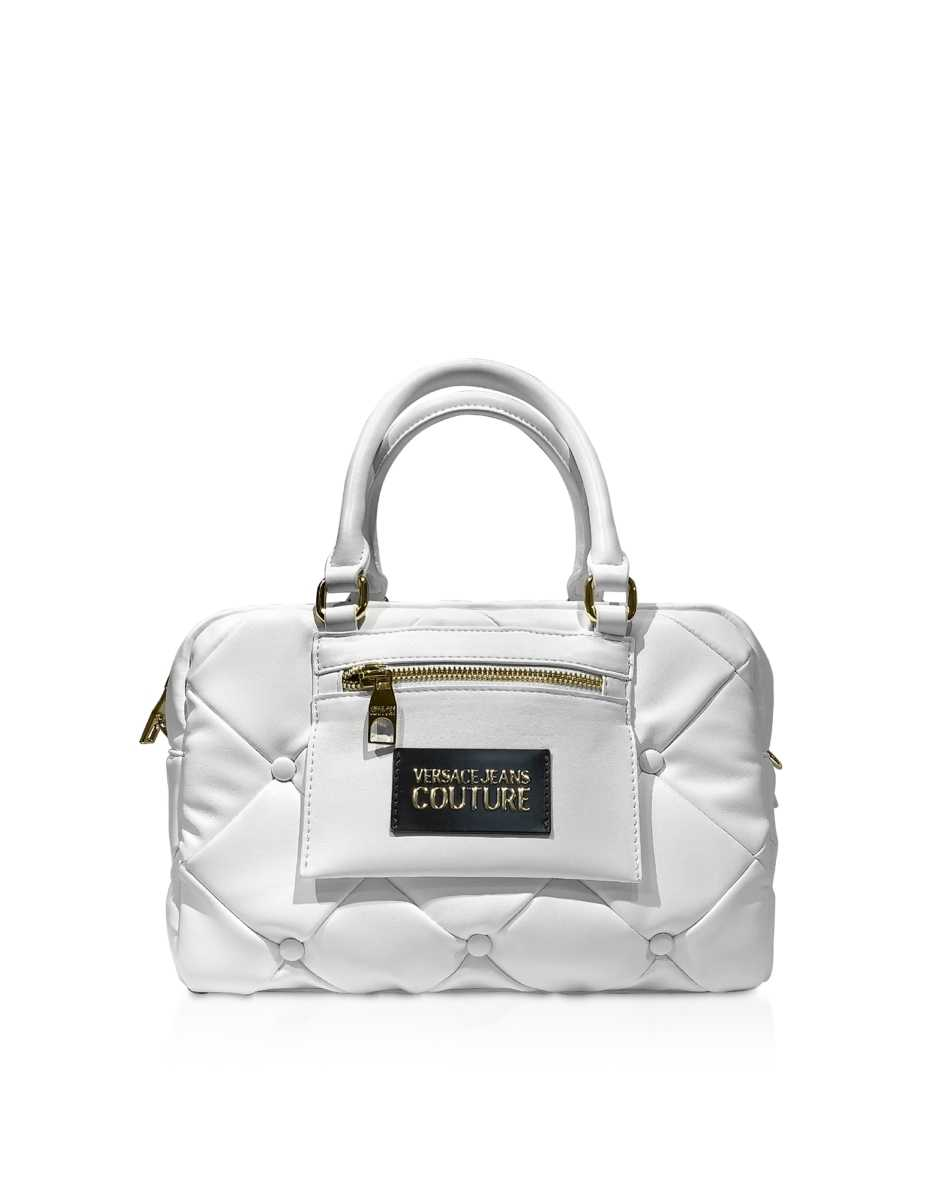 Versace Jeans Couture  Handbags Quilted Nappa Satchel Bag White USA - GOOFASH - Womens BAGS