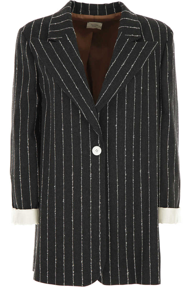 ALYSI Blazer for Women antracite DK - GOOFASH - Womens BLAZER