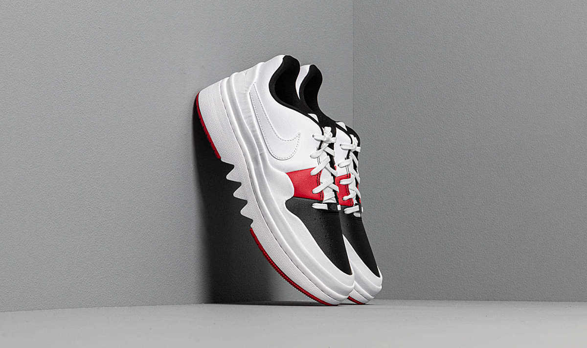 Air Jordan Wmns 1 Jester XX Low Laced White/ Gym Red-Black USA - GOOFASH - Womens LEATHER SHOES