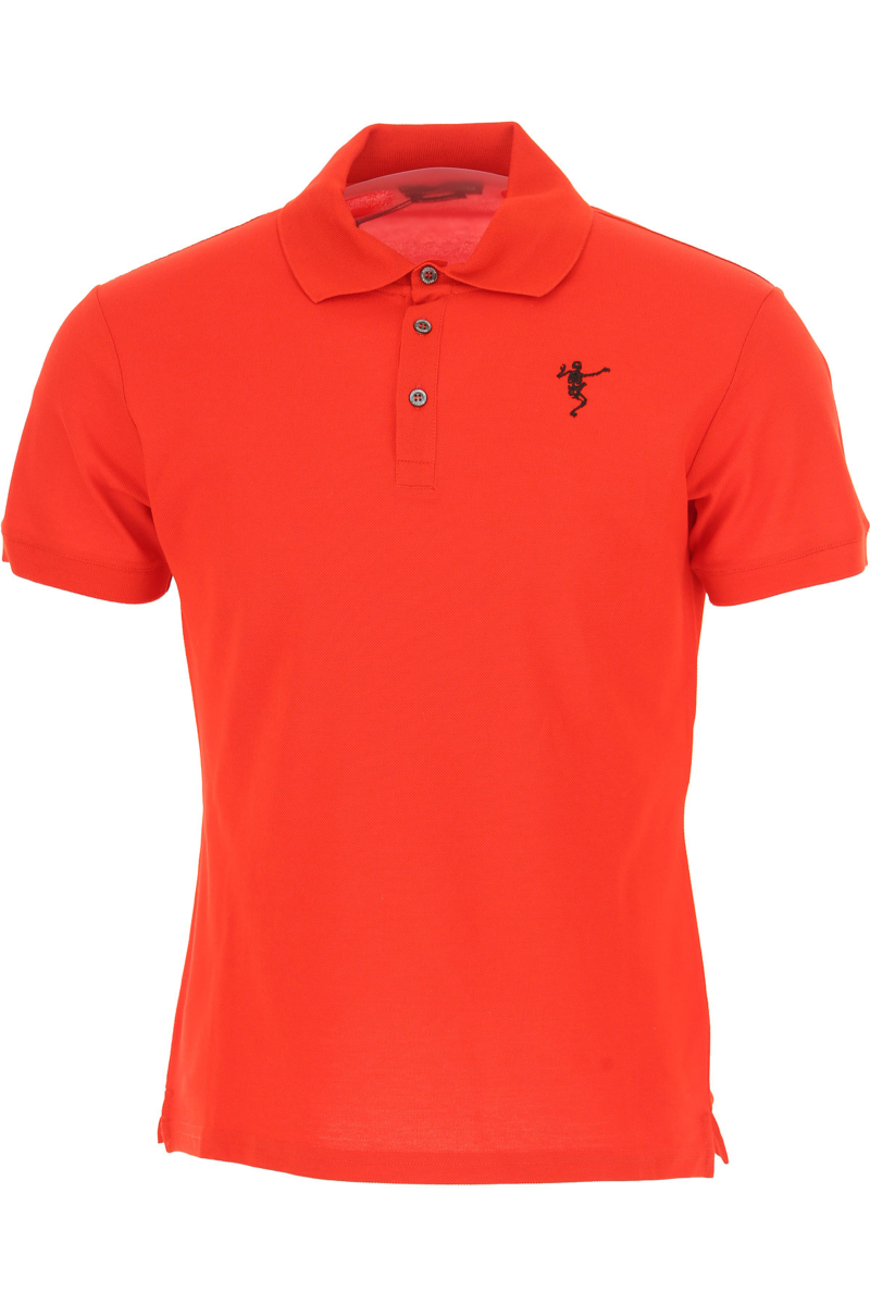 Alexander McQueen Polo Shirt for Men On Sale in Outlet Red DK - GOOFASH - Mens POLOSHIRTS