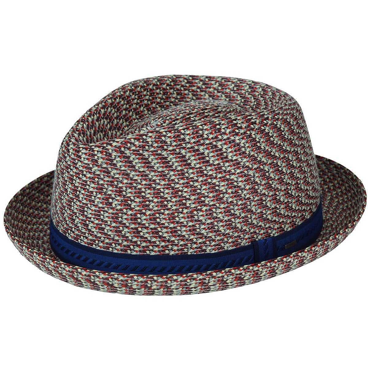 Bailey Of Hollywood Mannes Braided Trilby Cranberry Multi USA - GOOFASH -