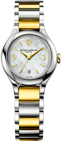 Baume & Mercier Ilea Pearl White Dial Women's Luxury Watch 8773 White Mother Of Pearl USA - GOOFASH - Womens WATCHES