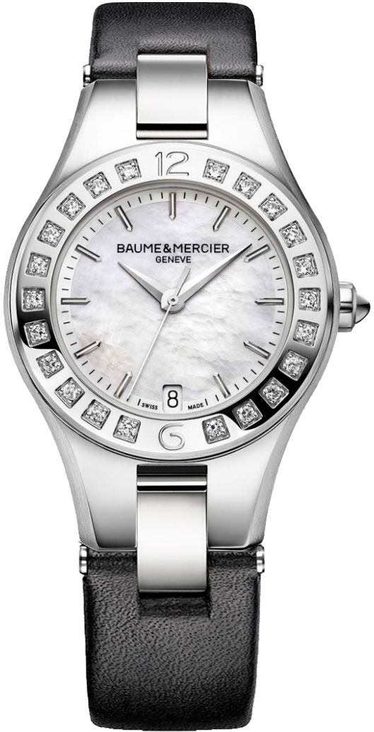 Baume & Mercier Linea Women's Watch 10072 White Mother Of Pearl USA - GOOFASH - Womens WATCHES