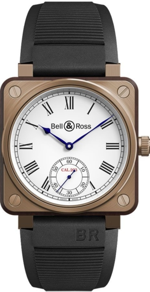 Bell & Ross Aviation Instruments Bronze Limited Men's Watch BR01-CM-203-SRB2 White USA - GOOFASH - Mens WATCHES