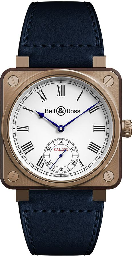 Bell & Ross Aviation Instruments Bronze & Wood Watch BR01-CM-203-B-V-064 White USA - GOOFASH - Mens WATCHES