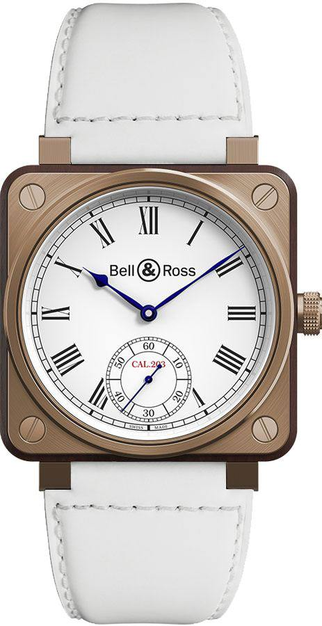 Bell & Ross Aviation Instruments White Dial Men's Watch BR01-CM-203-B-V-032 White USA - GOOFASH - Mens WATCHES