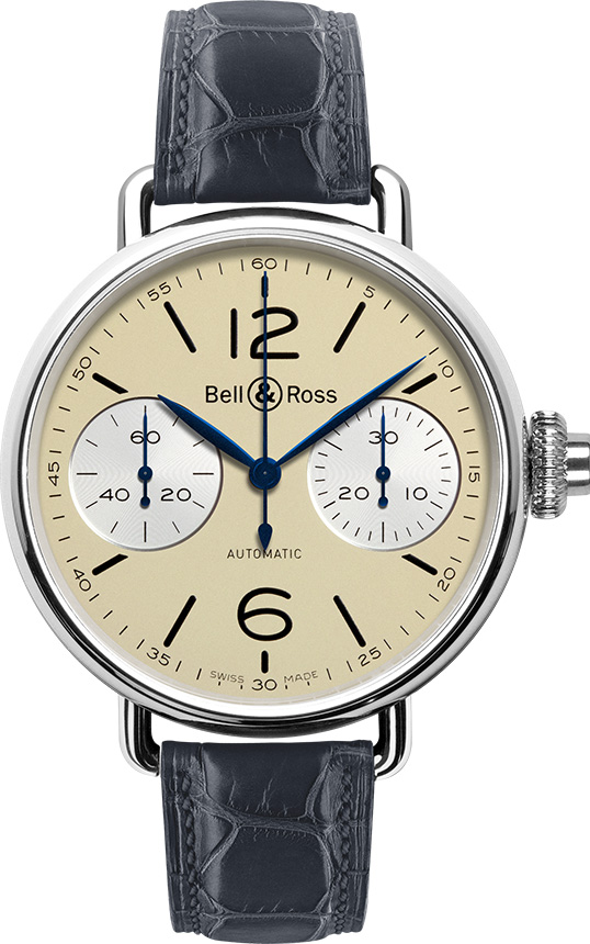 Bell & Ross Chronographe Monopoussoir Ivory Men's Watch BRWW1-MONO-IVO/SCR Ivory USA - GOOFASH - Mens WATCHES