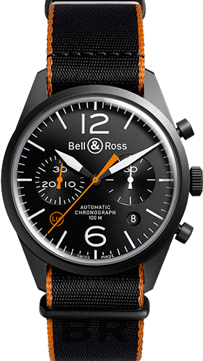 Bell & Ross Vintage Limited Edition Men's Watch BRV126-O-CA Black USA - GOOFASH - Mens WATCHES