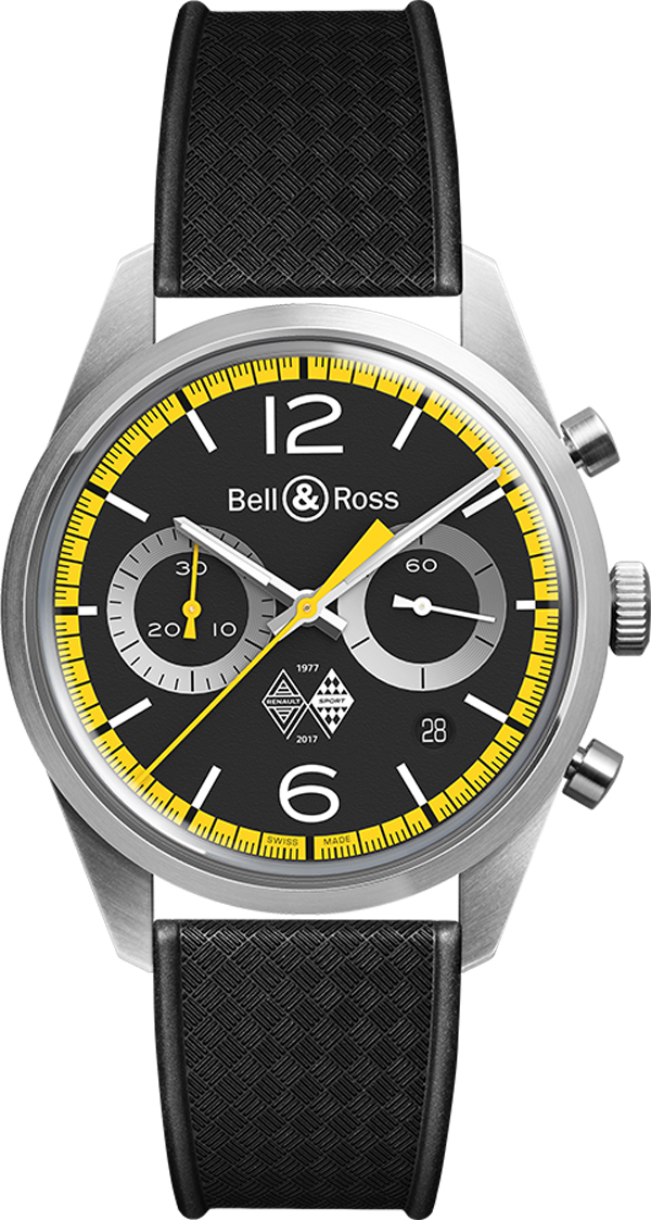 Bell & Ross Vintage Limited Edition Men's Watch BRV126-RS40-ST/SRB Black USA - GOOFASH - Mens WATCHES