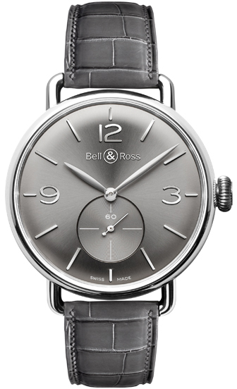 Bell & Ross Vintage Men's Luxury Watch WW1 BRWW1-ME-AG-RU/SCR Grey USA - GOOFASH - Mens WATCHES