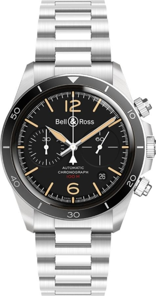 Bell & Ross Vintage New Authentic Men's Watch BRV294-HER-ST/SST Black USA - GOOFASH - Mens WATCHES
