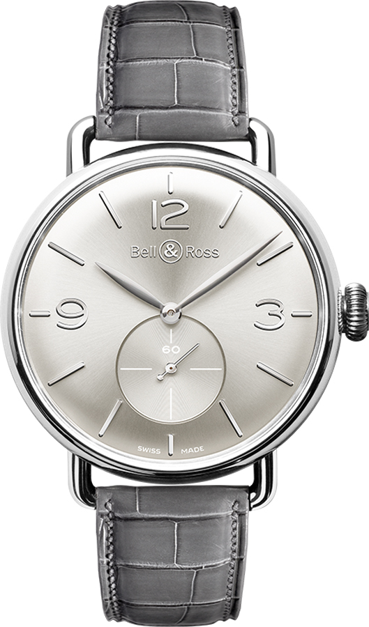 Bell & Ross Vintage New Swiss Men's Watch WW1 BRWW1-ME-AG-SI/SCR Silver USA - GOOFASH - Mens WATCHES