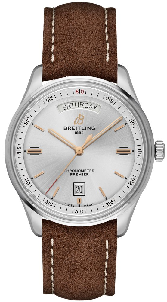 Breitling Automatic Day & Date 40 Men's Watch A45340211G1X1 Silver USA - GOOFASH - Mens WATCHES