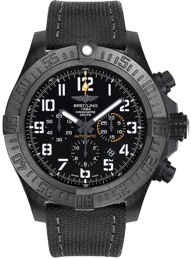 Breitling Avenger Hurricane Black Dial Men's Watch XB0170E4/BF29-100W Black USA - GOOFASH - Mens WATCHES