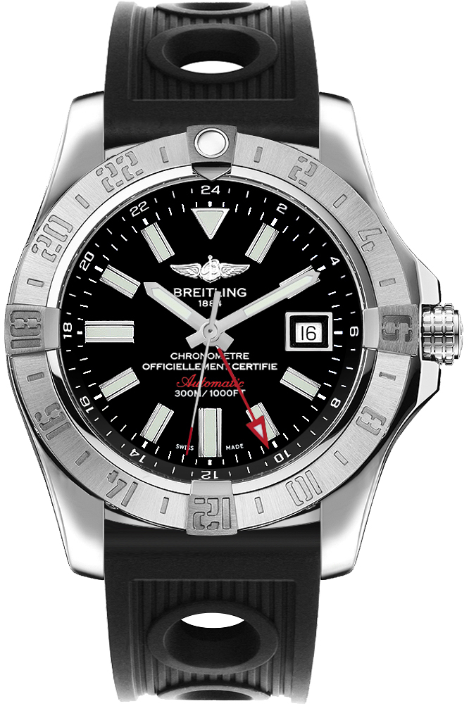 Breitling Avenger II GMT A3239011/BC35-200S Black USA - GOOFASH - Mens JEWELRY