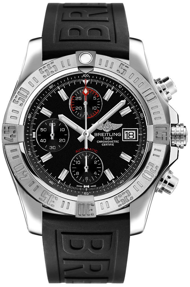Breitling Avenger II Volcano Black Dial Men's Watch A13381111B1S1 Black USA - GOOFASH - Mens WATCHES